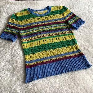Zara Short Sleeve Colourful Knit
